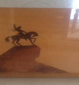 Панно Салават Юлаев на коне
