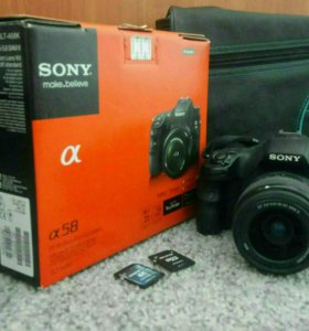 Sony alpha 58, флешка 16 и 4 Гб, сумка