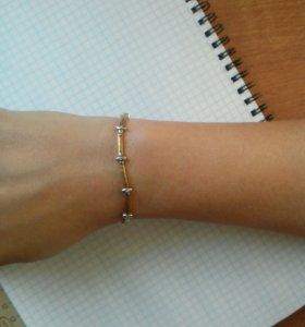 Золотой браслет с брилиантами