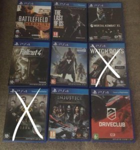 Диски PS4, PlayStation 4