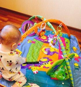 Игровой развивающий коврик Tiny love Зоосад