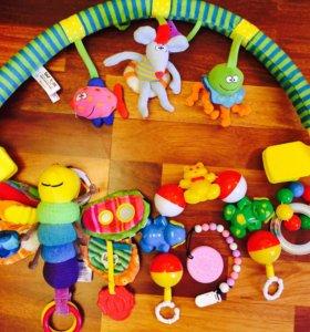Дуга на детский стульчик/ коляску + игрушки