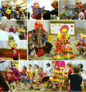 Клоуны с фокусами на детский праздник