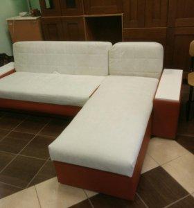 Угловой диван. Новая обвивка.