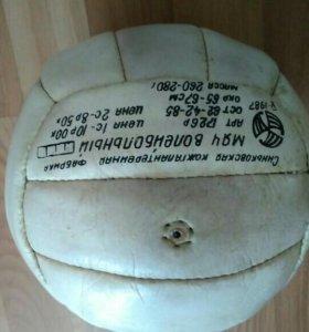 Мяч волейбольный кожаный.