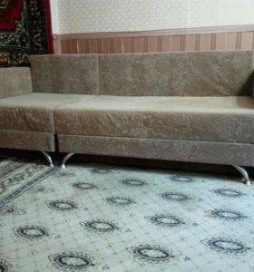 Угловой диван, еврокнижка
