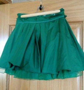 Изумрудная юбка-пачка
