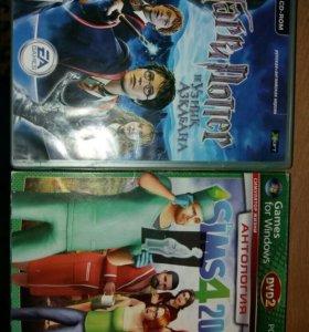 Диск с компьютерной игрой Sims 4 с дополнениями .