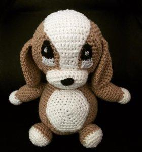 Вязаная игрушка щенок