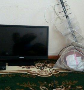 Телевизор, ресивер,антенна