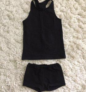 Майка и шорты для гимнастики (танцев), 3.5-5 лет