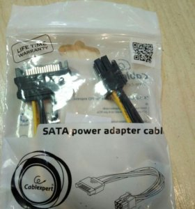 Переходник питания для видекарт 6 pin Sata