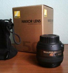 Объектив Nikon 50mm f/1.4G AF-S