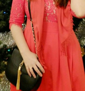 Красное алое платье zarina