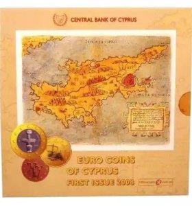 Набор монет Евро Кипр. Первый выпуск. 2006 год
