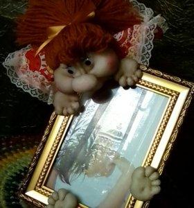 Кукла с фото- рамкой