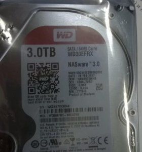 Новый жесткий диск HDD 3тб, Western Digital Red