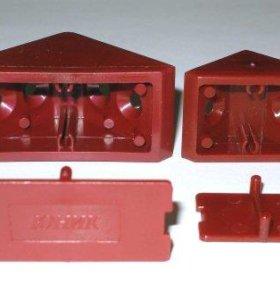 продам одинарные пласмассовые уголки с заглушкой