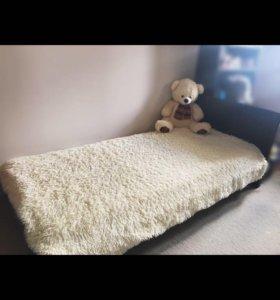 Кровать односпальная икеа + матрас
