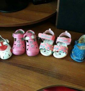 Детские сандалики. Размеры19,20,21,22