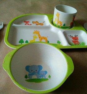 Набор детской эко посуды