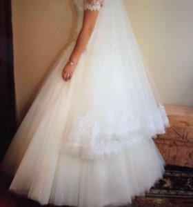 Свадебное платье+туфли+фата