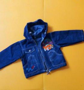 Джинсовая курточка 1-2 года