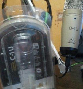 USB-Микрофон Behringer C-1U + ништяки