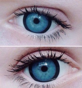 Линзы Lillypop blue 17,5 mm