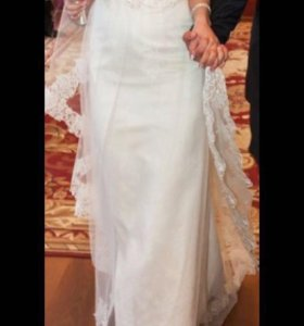 Свадебное платье, айвори. 40-42 размер