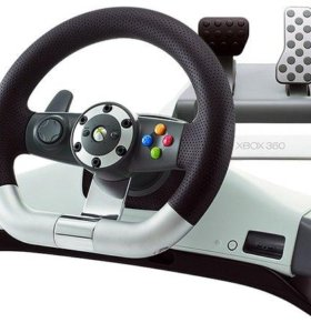 X-Box 360 Microsoft Wireless Racing Wheel with force feedback