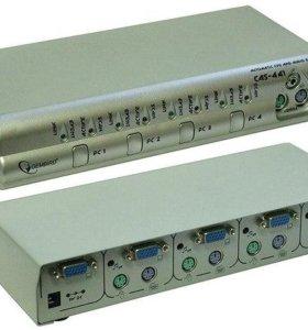Переключатель KVM на 4 пк Gembird CAS-441