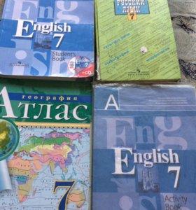 Учебники 7 класс книги английский русский язык
