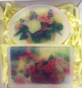 Подарочный набор мыла ручной работы!)