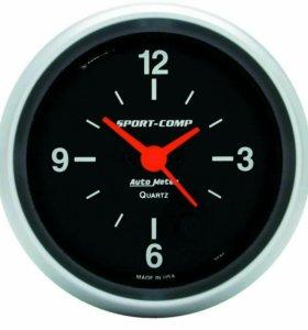 3585 AUTO METER кварцевые часы 67mm 12в