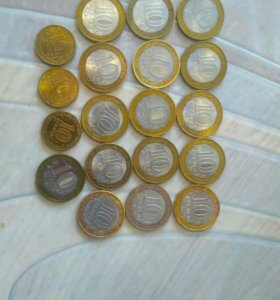 Юбилейные монеты -19 шт.