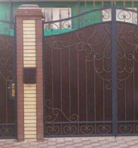 Ворота калитка  художественная ковка