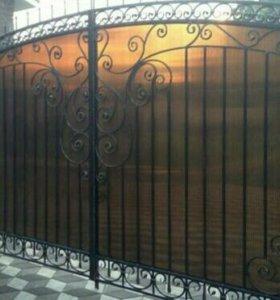 Ворота с элементами коки