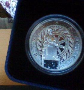 """монета серебро"""" К.У.З.Б.А.С""""номиналом 1 NZD"""