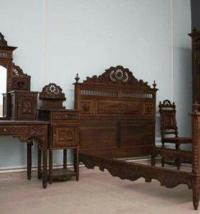 Спальня антикварная в бретонском стиле