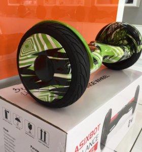 """Новый гироскутер 10.5 """" Граффити зелёный"""