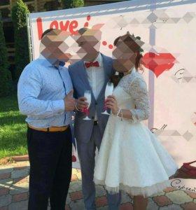 Свадебное платье, короткое