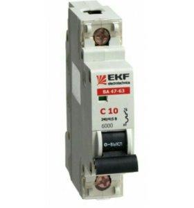 Выключатель автоматический EKF ВА47-63 10А (С)