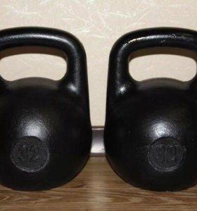 Чугунные гири Титан 12-32 кг
