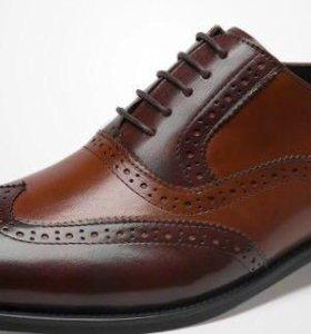 Туфли мужские из натуральной кожи (новые)