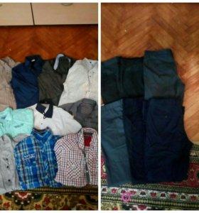 Мужские рубашки и брюки. Размер 46-48. В идеале