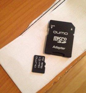Карта microSD 32GB 10 class с адаптером