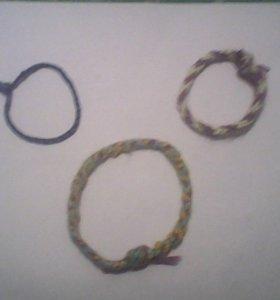 Изделие ручной работы (браслеты из вязаных ниток, мулене)