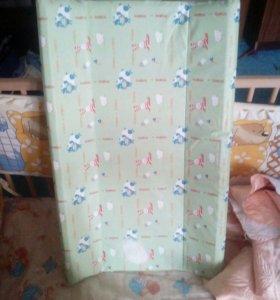 Кроватка с матрасом+пелен.доска