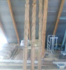 Декоративный деревянный резной столб